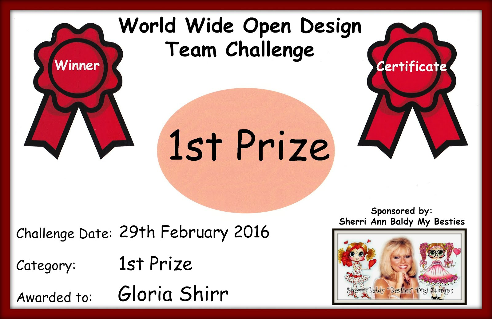 Winner of World Wide Open Design Team Challenge