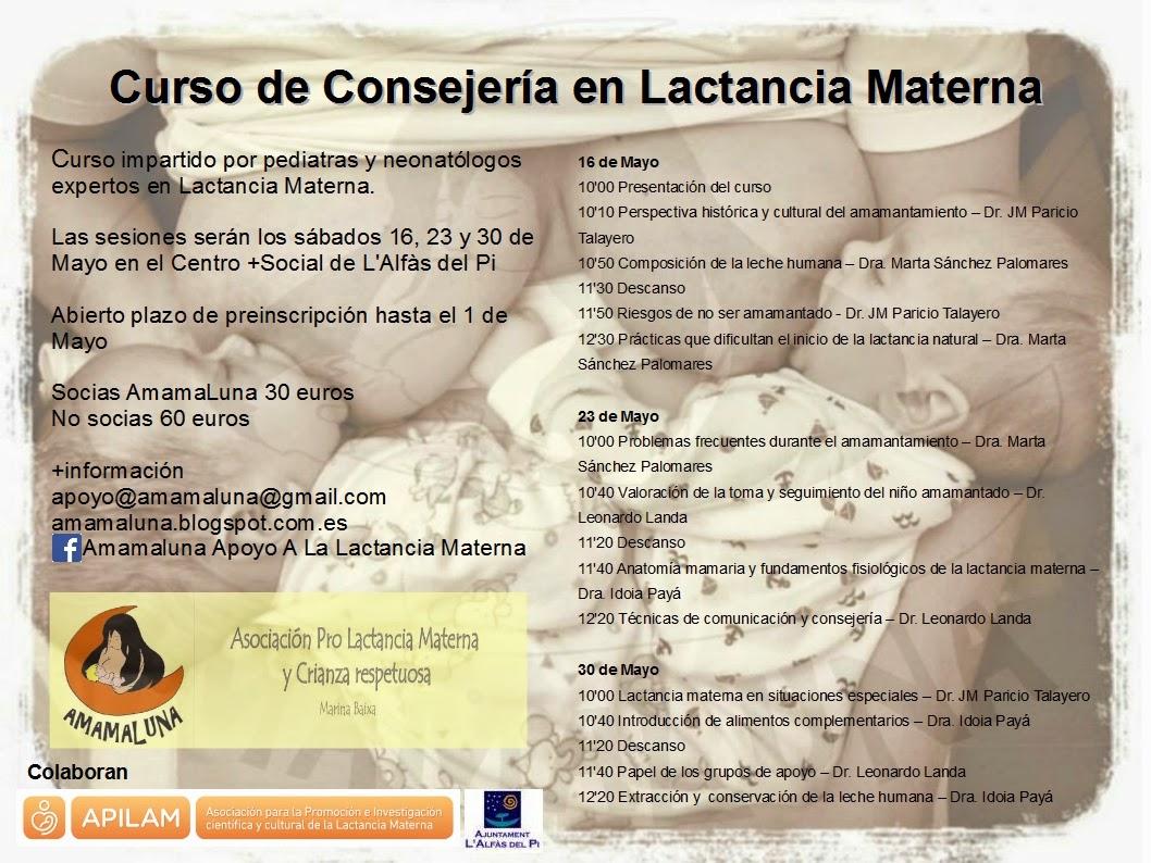 Amamaluna Apoyo a la Lactancia Materna: Curso Consejería de Lactancia