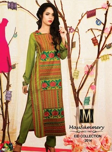 Mausummery Eid Dresses 2014-15