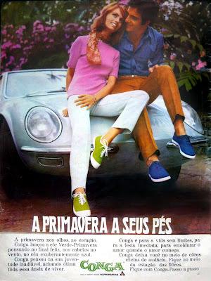 propaganda Conga da Alpargatas - 1970; história da década de 70; reclame anos 70; Oswaldo Hernandez;