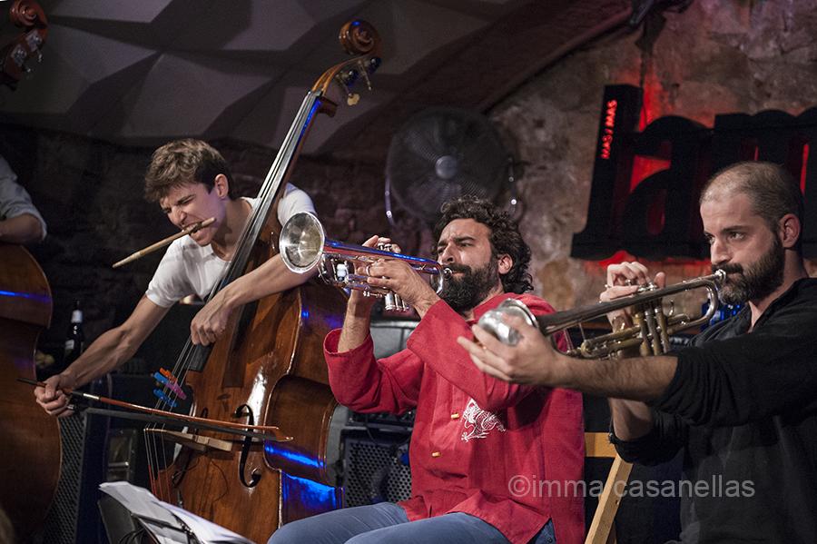Marc Cuevas, Julián Sánchez i Pol Padrós (Jamboree Jazz Club, 20-10-2015)