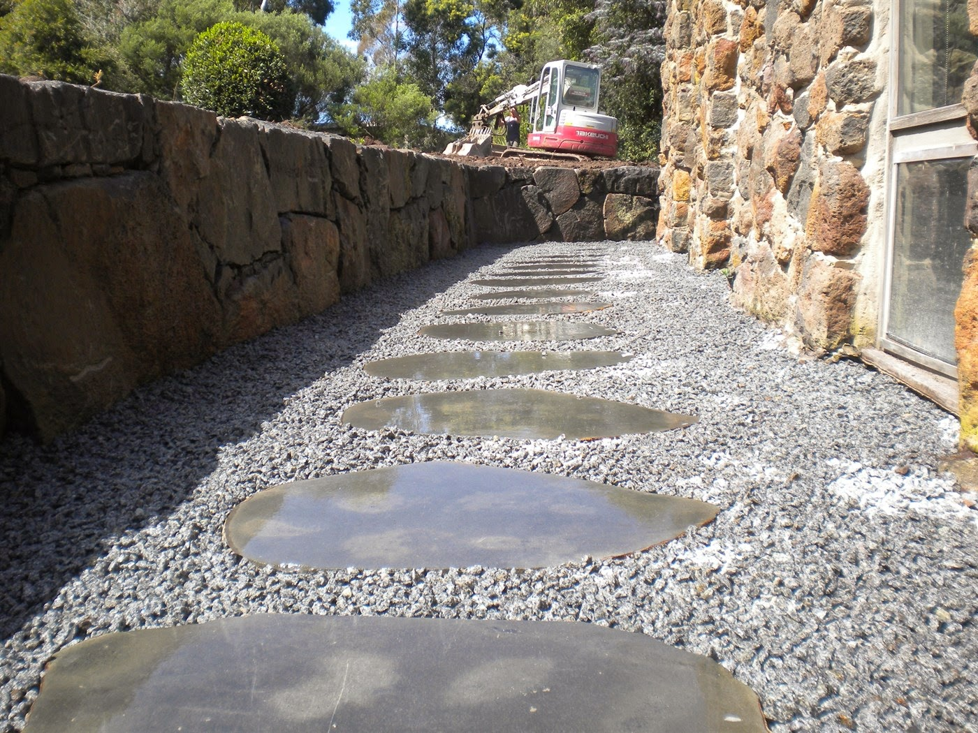 Crushed Stone Walkways : Home exterior ideas crushed stone walkways with a few new