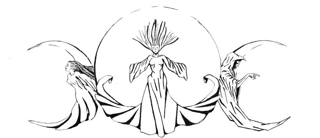 Maiden Mother Crone Tattoo Design