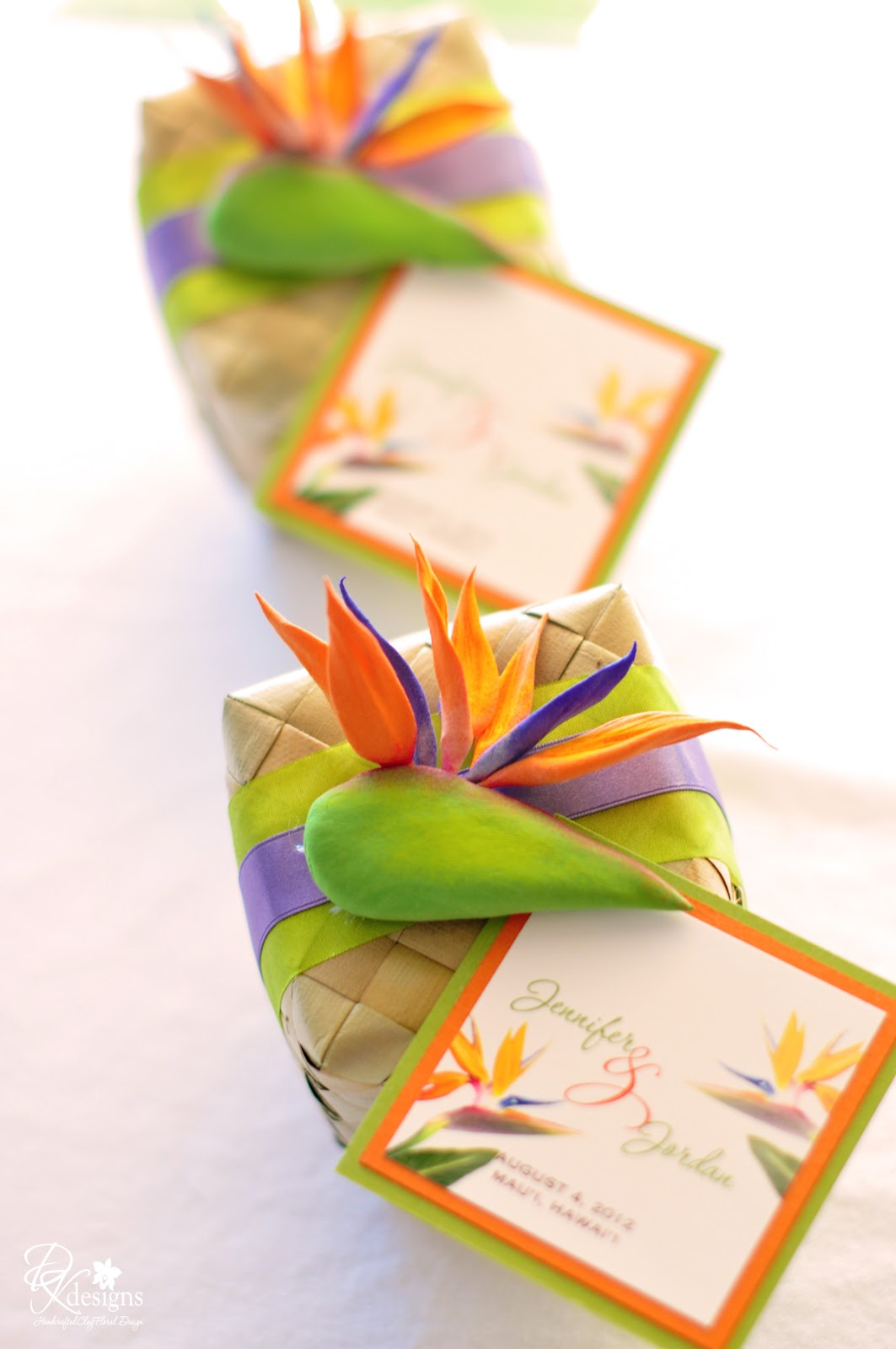 Her Bird Of Paradise Themed Wedding Invitations And Favors I Almost Turned Down The Order Based On My Workload At Time But She Made It Hard For Me