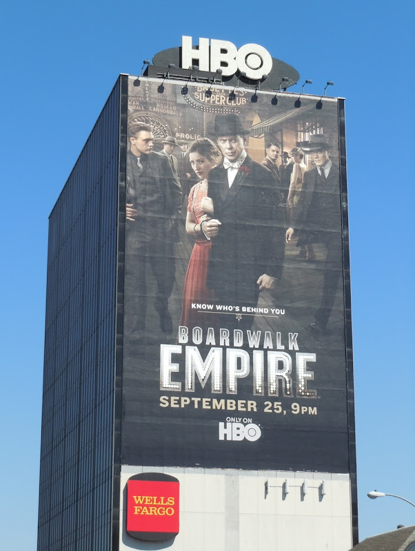 Giant Boardwalk Empire season 2 billboard