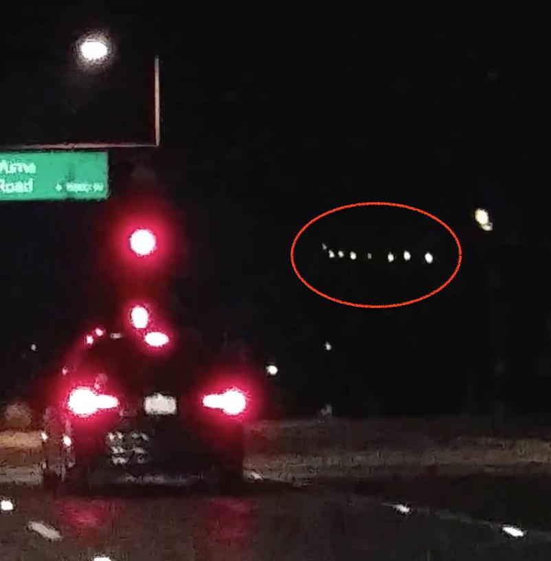 Φώτα φαίνονται παρόμοια με τα φώτα ufo