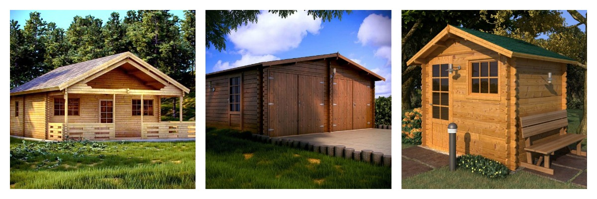 Casette di legno prefabbricati in legno for Quali sono le dimensioni di un garage per due auto