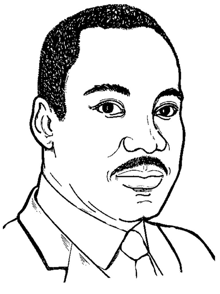 It's just an image of Delicate Martin Luther King Coloring Sheets Printable