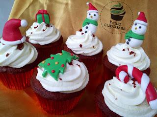 christmas cupcake bandung