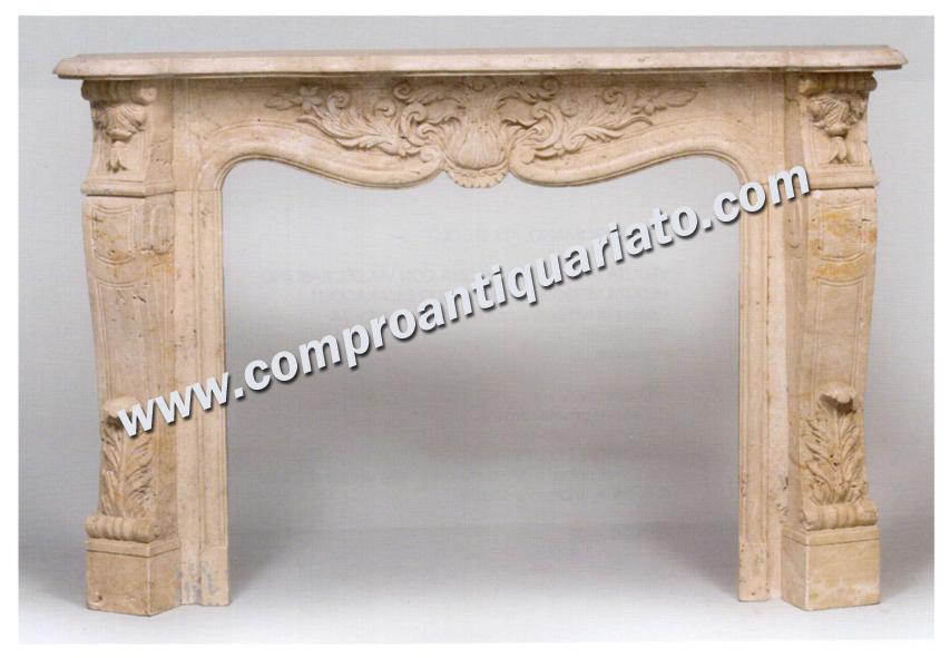 Camino in marmo travertino xix secolo consulenza per for Valutazione mobili antichi