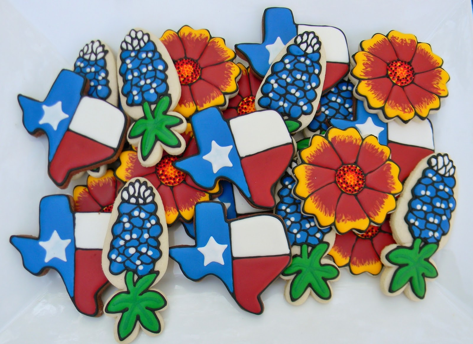 Sweet Melissas Cookies  Texas Theme Cookies