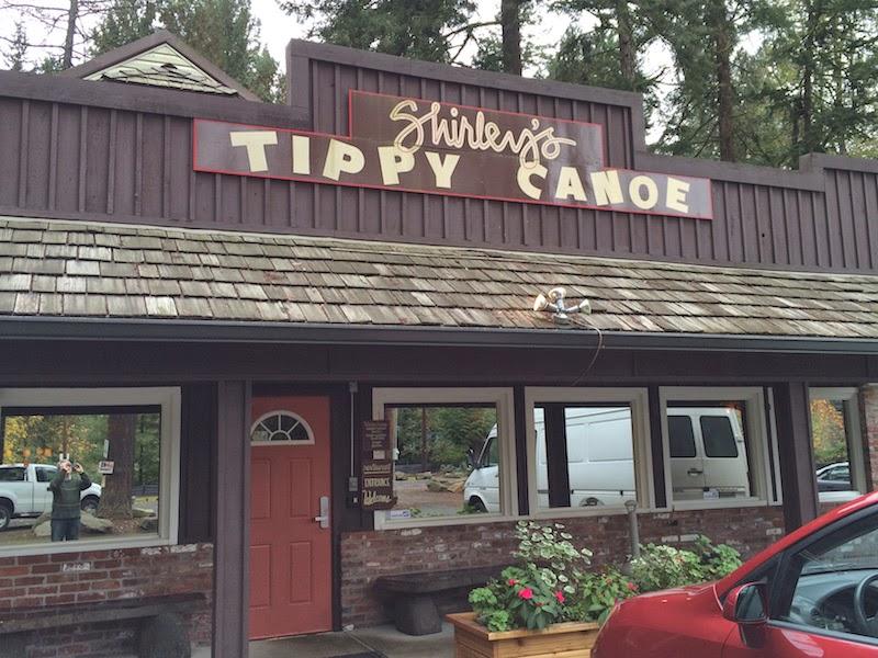 Shirley's Tippy Canoe in Troutdale, Oregon (near Portland)