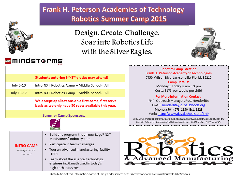 FLATE Robotics Camps Around the State