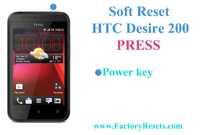 Soft Reset HTC Desire 200
