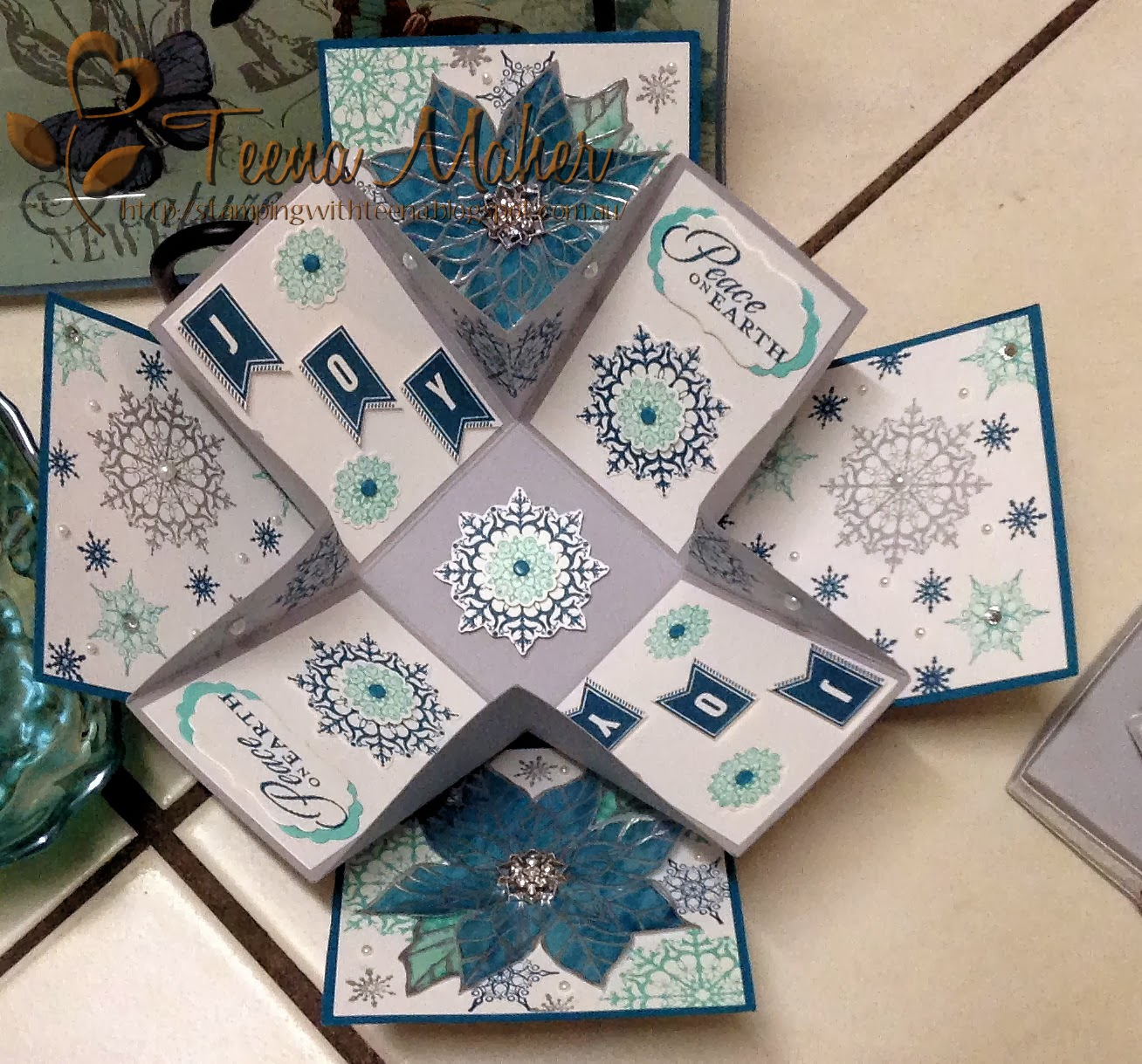 Stamping with Teena: Christmas Exploding Box Card