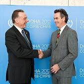 Peter Kent & Dan McDougll in Doha.