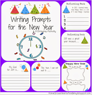 FREE Writing Prompts for the New Year