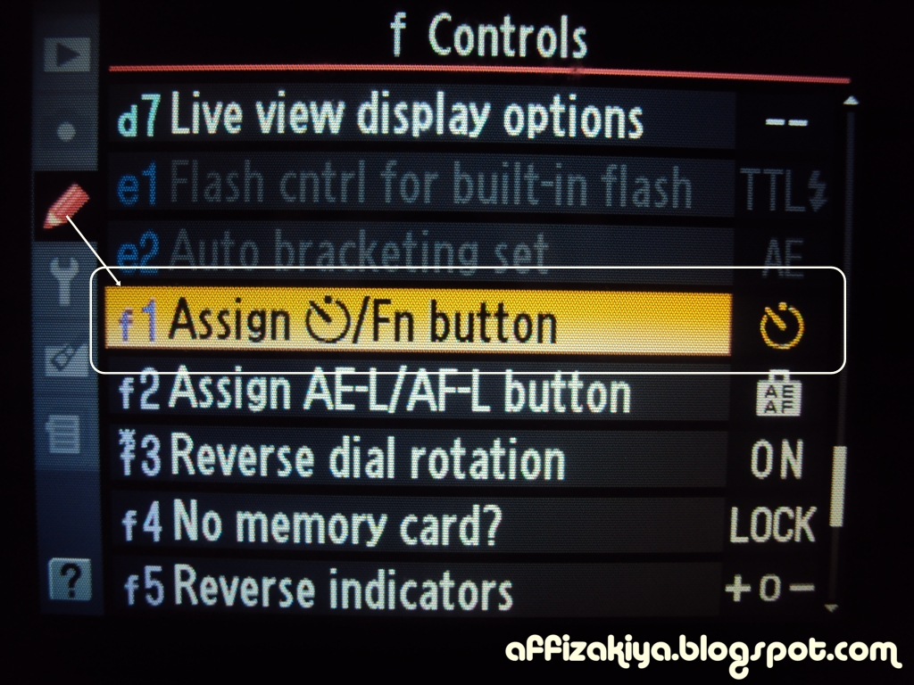 assignment fn Choose the role played by the fn button on optional wireless remote controllers equipped with an fn button see custom setting f1 (custom control assignment, 0 f1: custom control assignment) for.