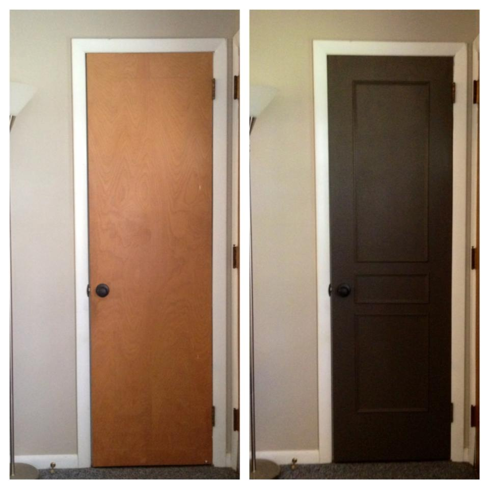 The humphries house coat closet door makeover for Closet door ideas