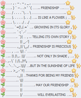 Friendship Emoji art for Facebook