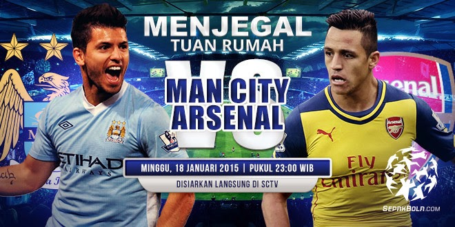 Prediksi Liga Inggris : Manchester City vs Arsenal