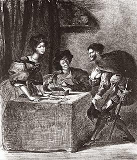 Mefistófeles, ilustración de Eugène Delacroix