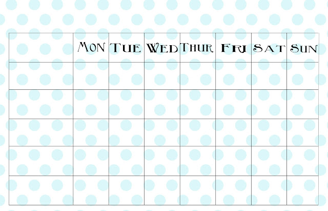 Displaying 20> Images For - Free Printable Blank Weekly Charts...