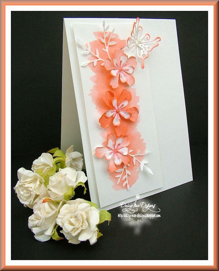 Flowers, peach, watercolour, peach