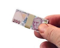 Ekonomik Kriz, Para Değer Kaybı, Enflasyon, Küçük Minyatür Deste Para, 200 TL Banknot