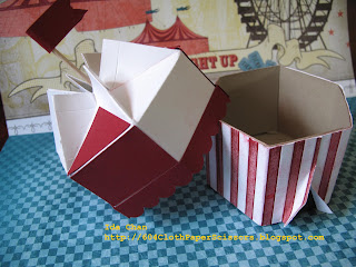 Circus tent with Stampin' Up! milk carton big shot die by Ida Chan