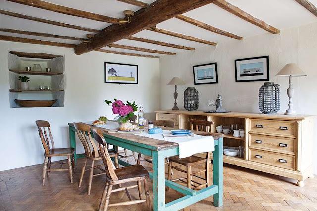 Interior casa de campo llena de hallazgos vintage for Casas modernas vintage