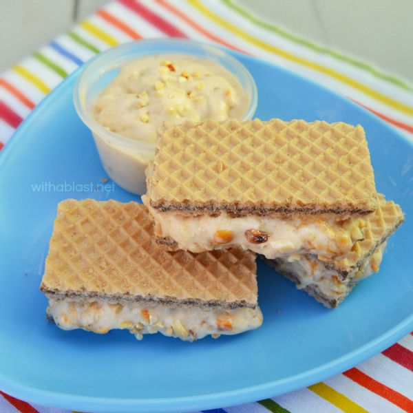 Peanut Butter Brittle Ice-Cream Sandwiches