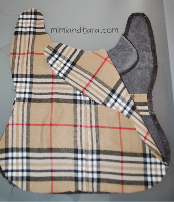 Grey Plaid Dog Bed