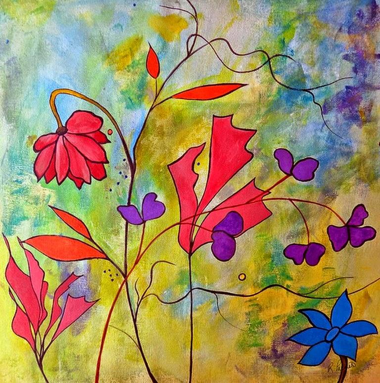 pinturas-modernas-de-flores