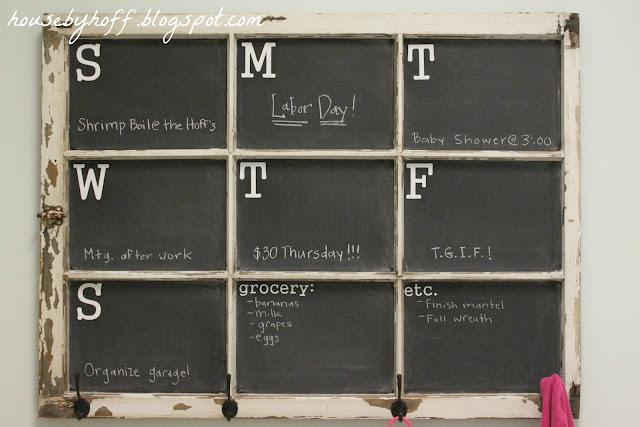 how to make a chalkboard window calendar via housebyhoff.com