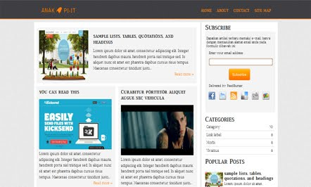 Demo O-Beat Blogger Template