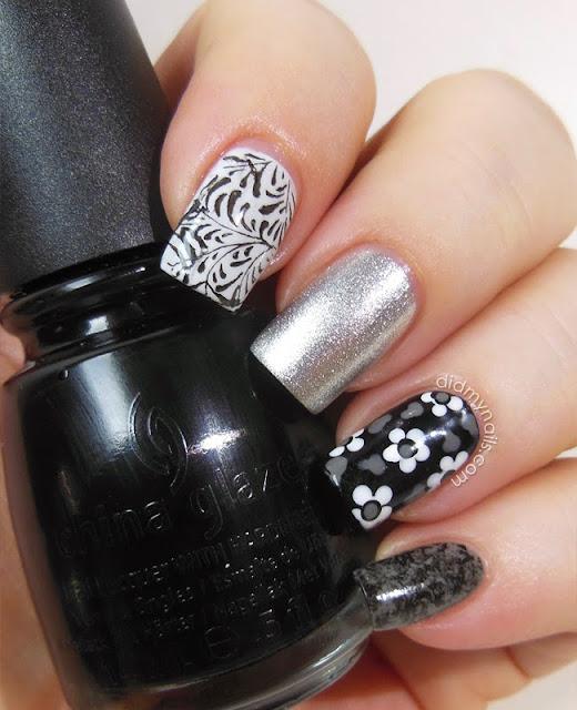 composite manicure with China Glaze Liquid Leather