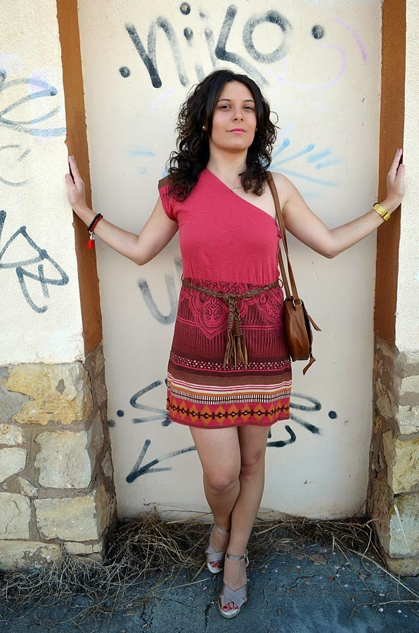 mi vestido azul, vestido étnico, ethnic dress, moda, blogger, castellón, blog de moda, fashion blogger