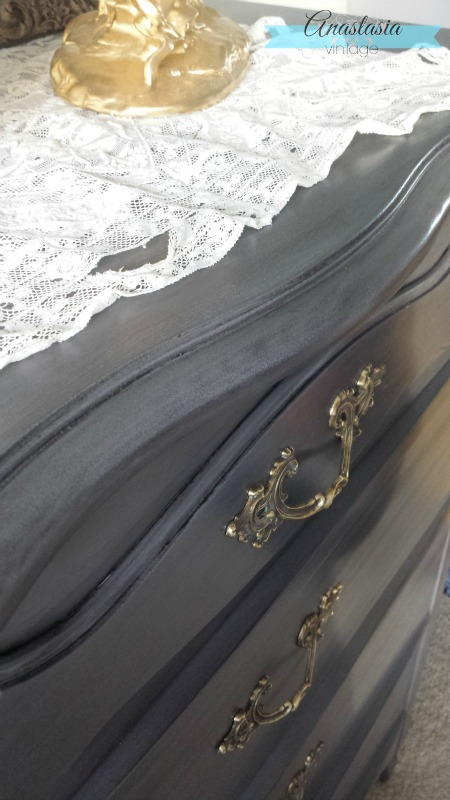 General Finishes Driftwood with Pitch Black Glaze