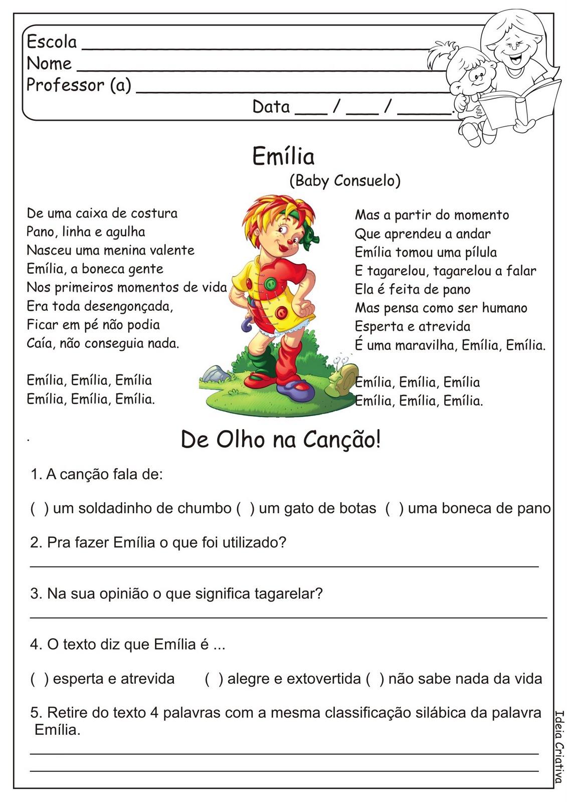 Atividade Dia Do Livro Infantil S  Tio Do Pica Pau Amarelo  6