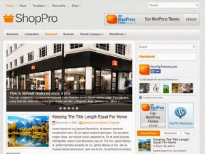 ShopPro - Free Wordpress Theme