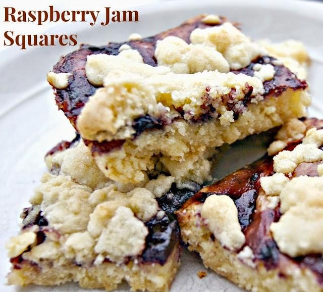 Raspberry Jam Squares
