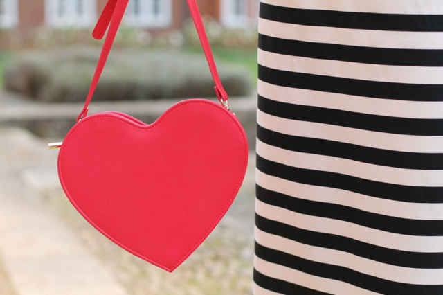 Coast Prena dress and Skinnydip London heart bag