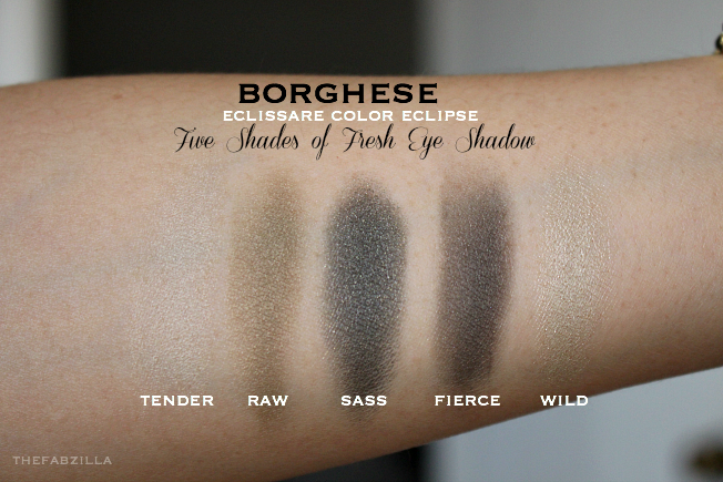 Borghese Eclissare Color Eclipse Eye Shadow, Review, Swatch, Five Shades of Cool, Five Shades of Fresh. How to smokey eyes, blue eye makeup, makeup for brown eyes