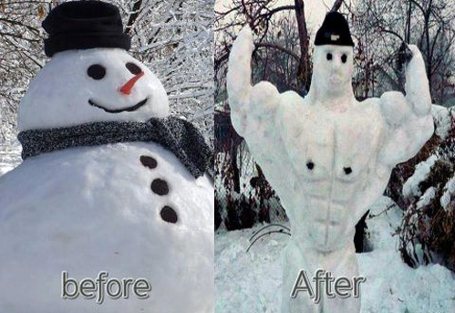 Johnny Hallyday Quotes >> Snowman Weightloss ~ Funny Joke Pictures