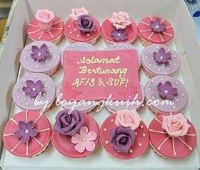 Cupcakes Hantaran Fondant