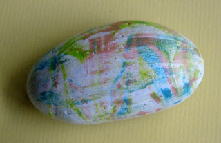 painted rocks, shaving cream, acrylic paint