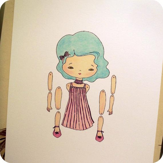 бумажные подвижные куклы Gingermelon Dolls
