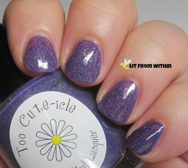 Too Cute-icle Beautiful, a bright purple holo