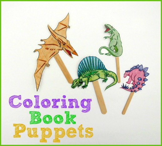 coloring book puppet play
